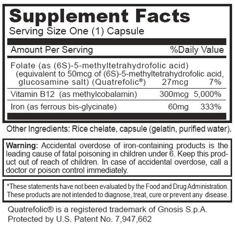 Double Strength Iron - Supplement Facts